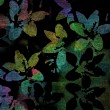 Abstract dark background, silhouettes coloured flowers — Stock Photo #73525157
