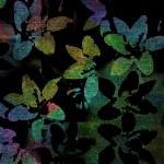 tmavé pozadí abstraktní, siluety barevné květy — Stock fotografie #73525157