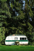 Classic caravan — Stock Photo