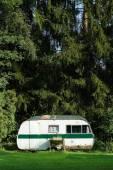 Classic caravan — Stock Photo
