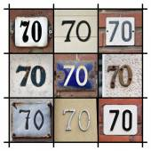 House Number 70 — Stock Photo