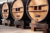 Huge wooden barrels — Stock Photo