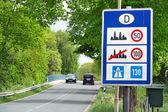 Ограничения скорости в Германии — Стоковое фото