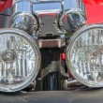 Motorcycle headlight — Stock Photo #61029145