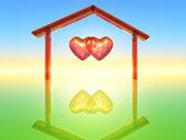 Two hearts — Stock Photo