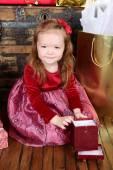 Christmas flicka — Stockfoto