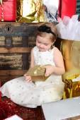 Boże Narodzenie dziewczyna — Zdjęcie stockowe