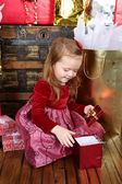 Christmas Girl — Foto de Stock