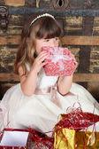 Rapariga de Natal — Fotografia Stock