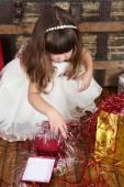 Christmas Girl — 图库照片