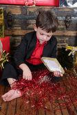 Christmas boy — Stockfoto