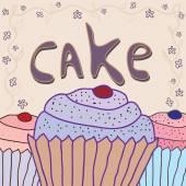 Cake background — Stock Vector