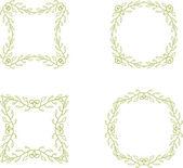 Floral branch frames — Stockvektor