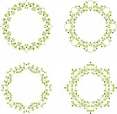 Floral branch frames — Stock Vector
