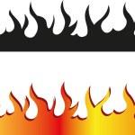 Seamless flame border — Stock Vector #65214513