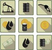 Piatto icona olio — Vettoriale Stock
