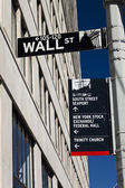 New York, USA - Wall Street street sign on the pole — Stock Photo