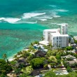 Aerial view of Honolulu and Waikiki beach from Diamond Head — Stock Photo #56093749