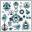 Set Of Vintage Retro Nautical Badges And Labels — Stock Vector #52323423