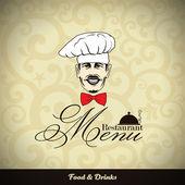 Restaurant menu design. Vector illustration. — Stock Vector
