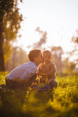 Brother's kiss — Stock Photo