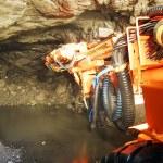 Heavy machine inside a mine shaft — Stock Photo #62728491