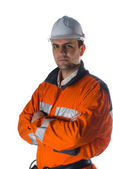 Confindent engineer isolated on white background — Stock Photo
