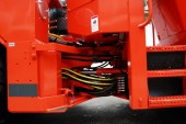 Heavy machine connection bolt — Stock Photo