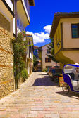 Ohrid old city alley, warm summer day — Stock Photo