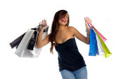 Shopping is addictive but fun — Zdjęcie stockowe