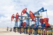 Oil pump jack — Stock Photo