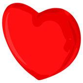 抽象红色的心 — 图库矢量图片