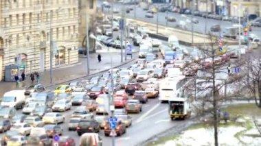 Traffic jams at rush hour — Stock Video