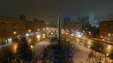 Traffic jam in Moscow, Russia — Stok video