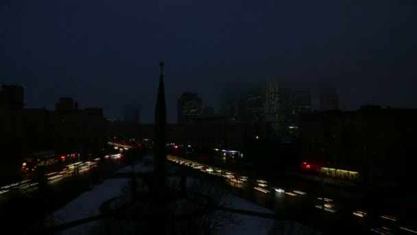 Traffic jam in Moscow, Russia — Vídeo de stock