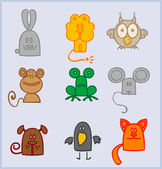 Animals icons — Stock Vector