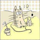 猫和老鼠 — 图库矢量图片