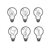 Light bulbs. — Stock Vector