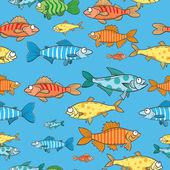Mönster med fiskar. — Stockvektor