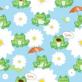 Pattern with frogs. — Stock Vector