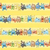 Pattern with monsters. — Stock Vector