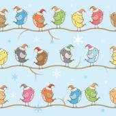 Pattern with birdies. — Stock Vector