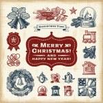 Vintage Christmas Set — Stock Vector #58887671
