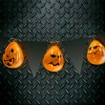 Halloween Jack-O-Lantern Pumpkin on a chair. — Stock Photo #62568119
