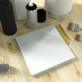 Mock up business template. Paint production. — Stock Photo