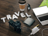 Traveling. Mockup business template. — Stock Photo