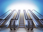 Escalator. High resolution — Stock Photo