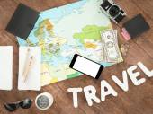 Travelling mockup business template.  — Stock Photo