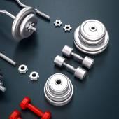 Mockup fitness elements. Bodybuilding. — Stock Photo