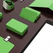 Modello di business di mockup. — Foto Stock